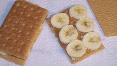 graham cracker banana sandwich snacks