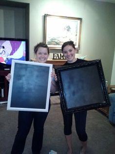 How To: Make a Chalkboard Picture Frame.   @Elena Kovyrzina Kovyrzina Aida. @Katie Hrubec Hrubec C. Can we make these for the wedding!!!!