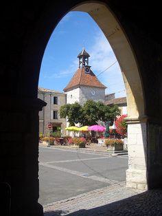 Tournon village square , France