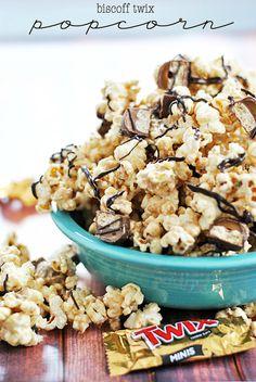 Biscoff Twix Popcorn   www.somethingswanky.com