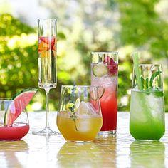Wow 'em summer cocktails! Click for recipes.