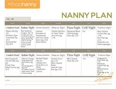 Nanny Plan | The Food Nanny Blog