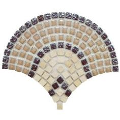 Merola Tile Tessera Arch Spice 11-3/4 in. x 9-3/4 in. Glass/Stone Mosaic Wall Tile