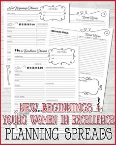 2014 YW Presidency Planner Organizer LDS by mycomputerismycanvas