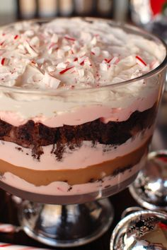 Peppermint White Chocolate Mousse Trifle-will be making this for Christmas