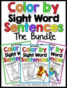 AMAZING!!! Color By Sight Word Sentences (The Bundle)