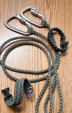 DIY Dog leash - i like the look of the collar but made into a leash