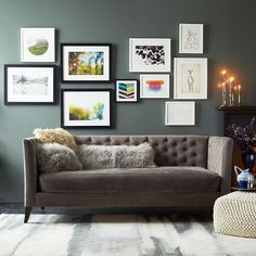 DIY gallery wall - dots from wedding pictures - Minted for west elm - Apertures | West Elm