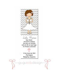 DIY Printable Girl First Communion Favor by GUGUKIDSDESIGN