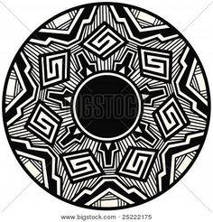 Traditional native american pueblo design pottery