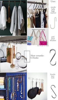 The Best Hooks For Organizing