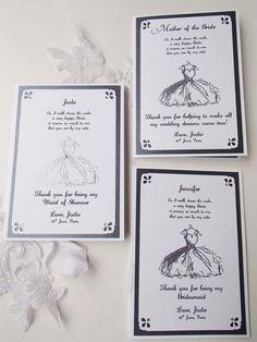 Dama de honor invitación 5 x 7-será que mi - gracias tarjeta-dobla tarjeta - boda - dama de Honor - dama de Honor - Bodas - Dress