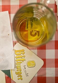 A five-dollar bill sits under an empty beer mug at the close of a German folk singing gathering in Yorktown on August 25. (Photo by Kaitlin McKeown / Daily Press)