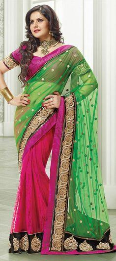 127283: : Lehenga-saree modeled by #ZareenKhan, #Bollywood