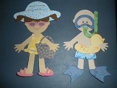 Summer Girl and Boy Cricut Doll