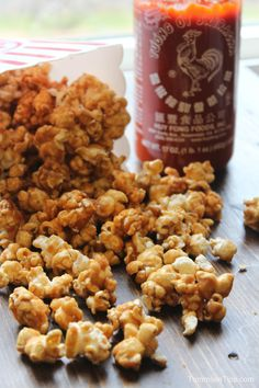 Sweet and spicy Sriracha Caramel Corn.