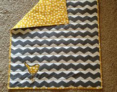 chevron quilt with bird. I want someone to make this for me!