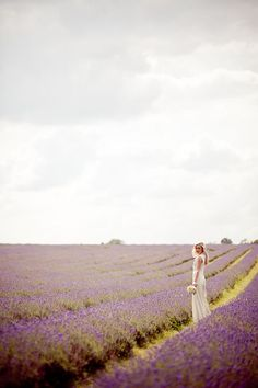 1970s Inspired Lavender Field Bridal Inspiration Shoot... {Photography: Eddie Judd}