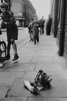Boys playing in London, 1945.