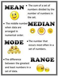 mean, mode, median, ...