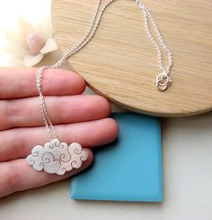 Cloud. Sterling silver. Necklace.