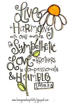 1 Peter 3:8.