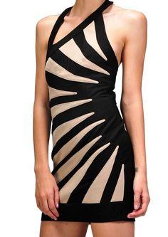 Contrast Beams Dress