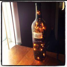 Lights in a wine bottle