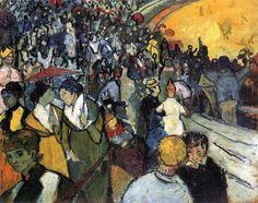 Vincent van Gogh (Zundert 1853 - Auvers-sur-Oise 1890); The Arena at Arles, 1888; oil on canvas, 94 x 74.5 cm; Hermitage Museum, Saint Petersburg #art #artist #artworld #artnews #vincentvangogh #vangogh #masterartists
