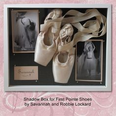 shadow box ballet shoes, craft, first pointe shoes, point shoe, danc