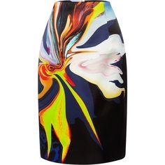 Josh Goot Pleated Organza Pencil Skirt
