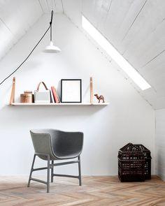 Chair + floor interior design, floors, fritz hansen, chairs, interiors, bangs, danishes, cecili manz, place