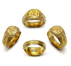 15th century gold iconographical ring, English c.1470