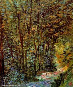 Path in the Woods. Paris - June 1887 - Vincent van Gogh
