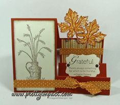 Always Thankful Side Step Card by Cindy Hall - Cards and Paper Crafts at Splitcoaststampers