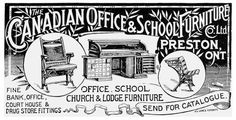 This is the first time I've seen the student desk. ADVERTISEMENT in The Canadian Manufacturer (15 March 1895), p. 235.  (Photograph from the Library of Congress.)