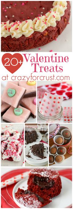 Over 20 Valentine Treats at crazyforcrust.com | From candy to chocolate to red velvet, you'll find something sweet for your sweetheart!