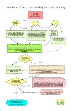How to Handle a Food Craving Flow Chart