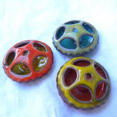 enameled beads by Painting with Fire Studio