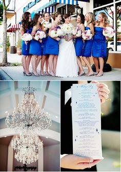 cobalt blue bridesmaids