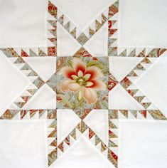 star patchwork, quilt block, floral print, feather star, fussy cut quilts, star quilts, feathered star, inklingo progetti