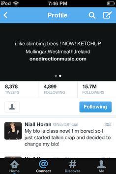 Niall's new twitter bio >