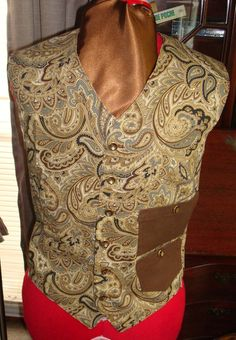 Men's Steampunk Vest - Chest Size 38. via Etsy.