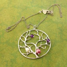 Silver Family Tree Large pendant by MayaBelle on Etsy, $59.00