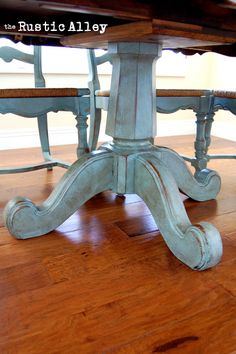 I will definitely be doing this to our old table this summer!!! LOVVVEEE! The Rustic Alley: Antique Refinish - YES!!