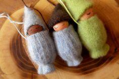 Waldorf baby Gnome Necklaces