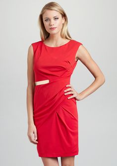 JULIA JORDAN Bateau Neck Dress