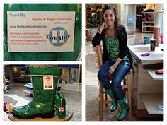 Brynne is showing off her Kelly Green #boots today!! We love it!!! #BootsByTwoAlity ❤ The kiosk location is only open today until 6pm & one more weekend!! Don't miss out!  www.thetwoalitystore.com
