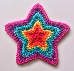 Crochet Growing Star - Tutorial ✿⊱╮Teresa Restegui http://www.pinterest.com/teretegui/✿⊱╮