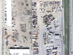 Aerial view of Walmart campground.....I mean Walmart parking lot.....